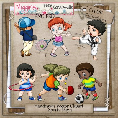 CU Hand Drawn Sports Day Clipart 2
