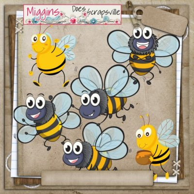 CU Hand Drawn Bugtopia- Cute Bugs Clipart 2