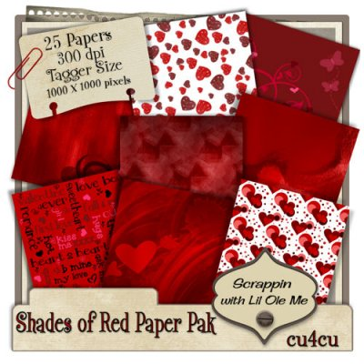 Shades of Red Paper Pak