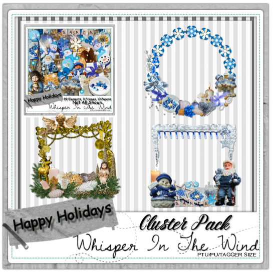 Happy Holidays PU Clusters - Click Image to Close