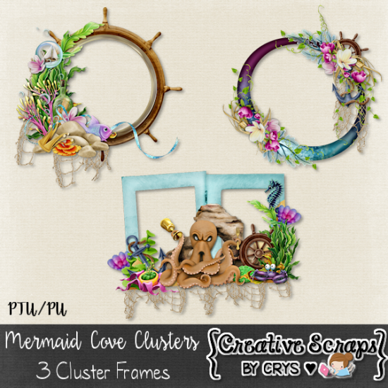 Mermaid Cove Cluster Frames - Click Image to Close