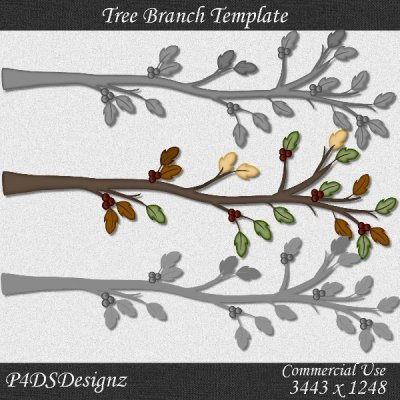 Fall Tree Branch Template