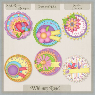 Whimsy Land Seals