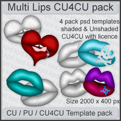 Multi Lips Template Pack
