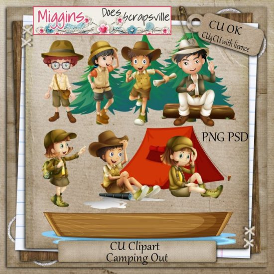 CU Hand Drawn watercolour Camping clipart - Click Image to Close