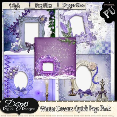 WINTER DREAMS QUICK PAGE PACK - TAGGER SIZE