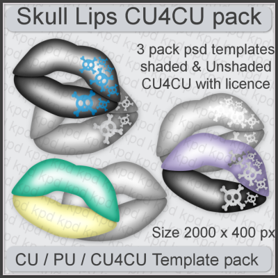 Skull Lips Template Pack