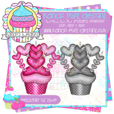 Message Of Love Cupcake