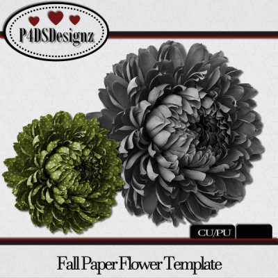 Fall Paper Flower Template 01
