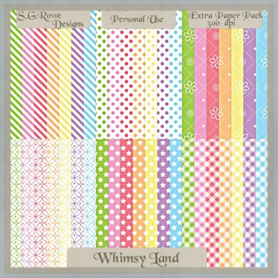 Whimsy Land Extra Paper Pack