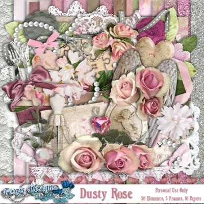 Dusty Rose Full Page Kit