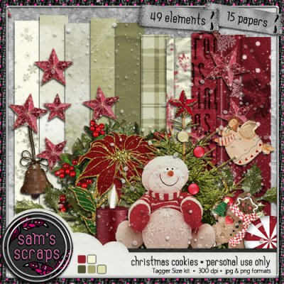 PU - Christmas Cookies tagger kit
