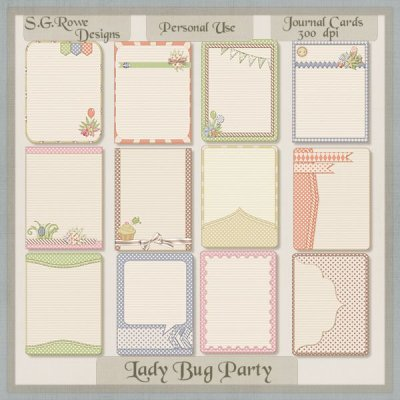 Lady Bug Party Journal Cards