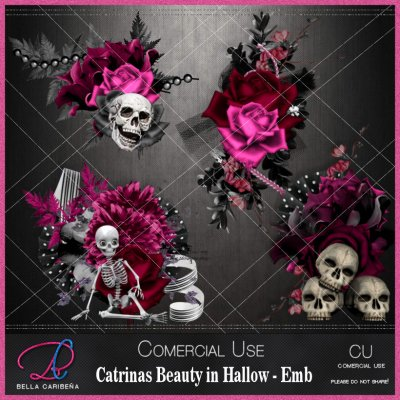 Catrinas Beauty In Halloween Emb