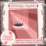 Birthday Napkin Script/Template Package