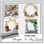 Christmas Blessings PU Clusters