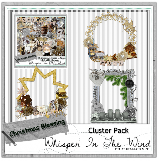 Christmas Blessings PU Clusters - Click Image to Close