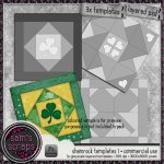 CU - Quilted Shamrock Paper Template