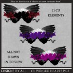 CU Winged Hearts Pk 2 TS