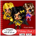 Valentine Doll Set 3