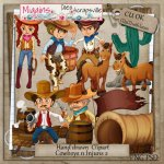 CU Hand Drawn Cowboys N Injuns Clipart 2