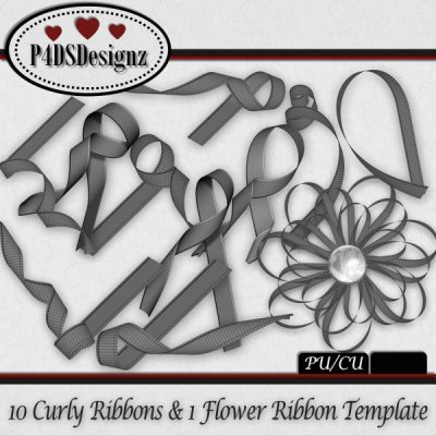Curly Ribbon Set 07