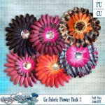 Cu Fabric Flower Pack 7