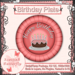 Birthday Plate Script/Template Package