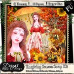 THANKSGIVING SEASON SCRAP KIT PACK - TAGGER SIZE