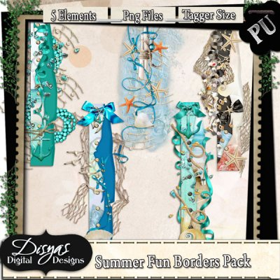 SUMMER FUN BORDER PACK TAGGER SIZE
