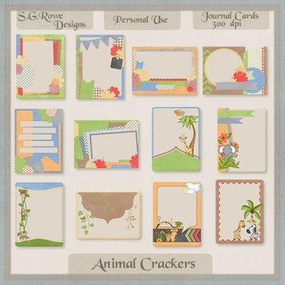 Animal Crackers Journal Cards