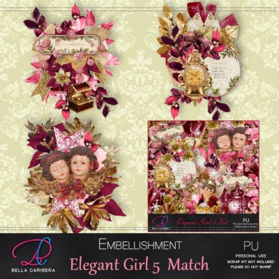 Elegant Girl 5 Match Emb