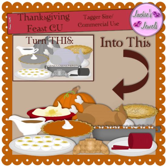 Thanksgiving Feast CU - Click Image to Close