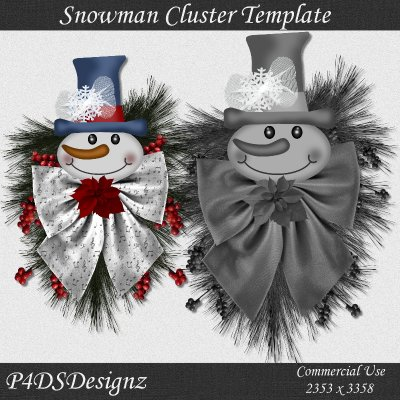 Snowman Cluster Template