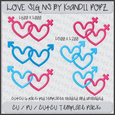 CU4CU Love Signs Template Pack