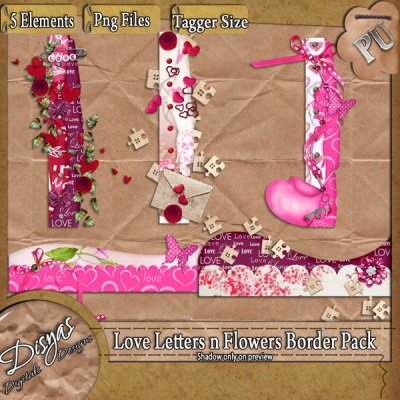 LOVE LETTERS AND FLOWERS BORDER PACK TS