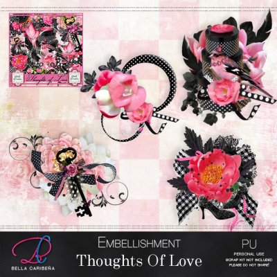 Thoughts Of Love Embellishments