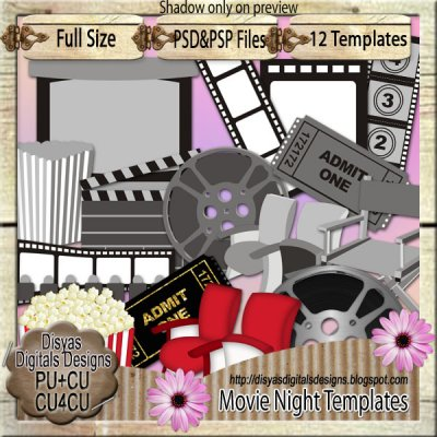 MOVIE NIGHT TEMPLATE PACK + SAMPLES - CU4CU