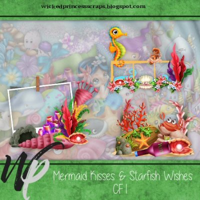 Mermaid Kisses Starfish Wishes Cluster Pack Wicked Princess